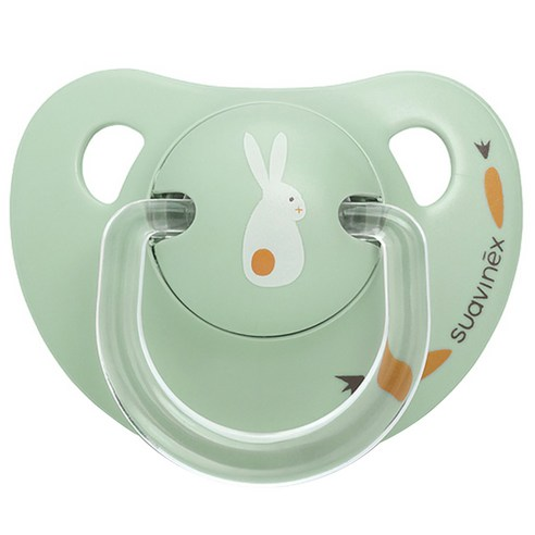 [Suavinex] Happy Bunny Silicone Pacifier 0~6 Months #Happy Bunny Mint 1p (Weight : 30g)