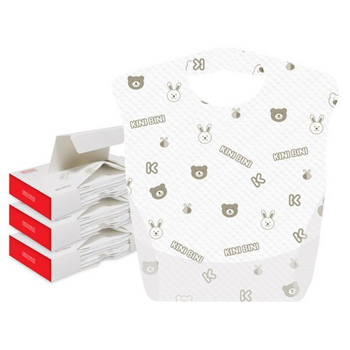 [Kinibini] Disposable Baby Bibs 12p*3 (Weight : 330g)