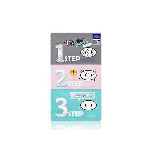 [Holikaholika] Pig Clear Black Head 3-Step Kit 7g