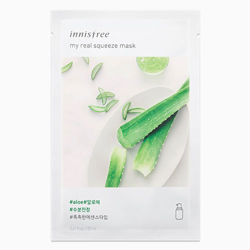 [Innisfree] My Real Squeeze Mask #Aloe 20ml