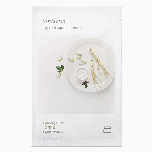 [Innisfree] My Real Squeeze Mask #Ginseng 20ml