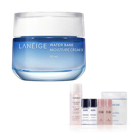 [Laneige] Water Bank Moisture Cream EX 50ml + Amore Pacific Small Kit (Weight : 288g + 125g)