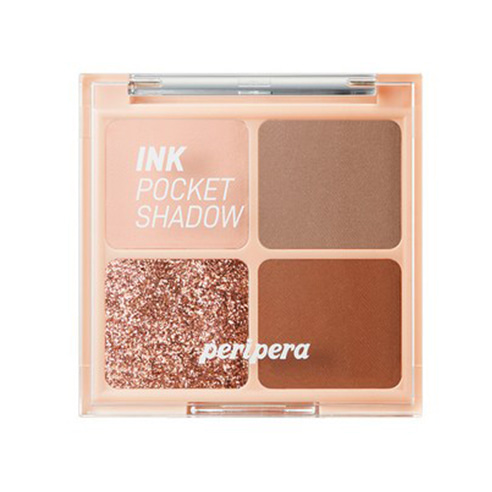 [Peripera] Ink Pocket Shadow Palette #03 Brown Filter 360 1.6g*4ea (Weight : 45g)