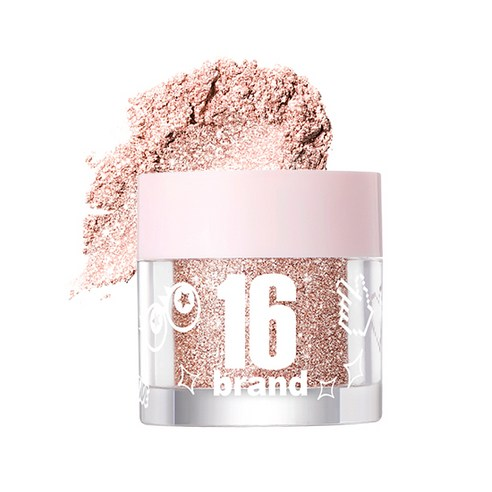 [16Brand] 16 Candy Rock Pearl Powder #02 Champagne Candy 1.8g (Weight : 20g)
