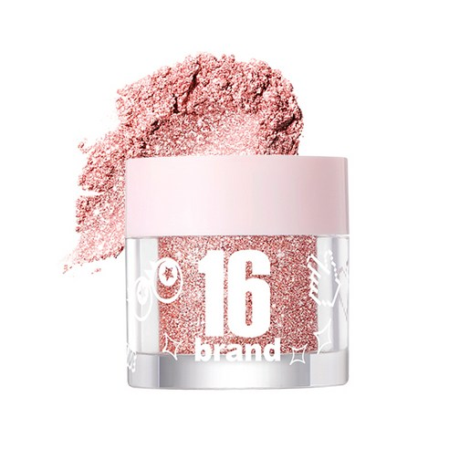 [16Brand] 16 Candy Rock Pearl Powder #03 Rose Candy 1.8g (Weight : 20g)