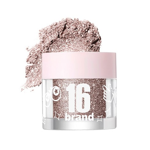 [16Brand] 16 Candy Rock Pearl Powder #04 Whiskey Candy 1.8g (Weight : 20g)