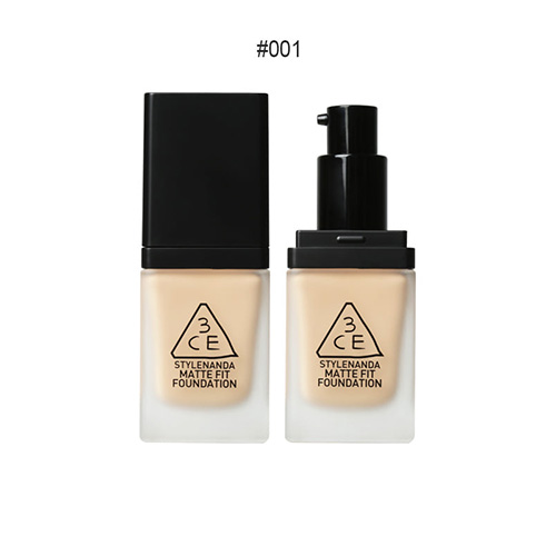 [E][3CE] Matte Fit Foundation #001 35g (Weight : 65g)