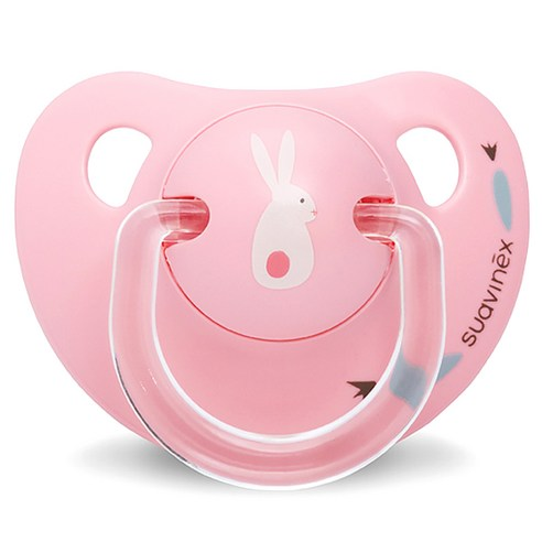 [Suavinex] Happy Bunny Silicone Pacifier 0~6 Months #Happy Bunny Pink 1p (Weight : 30g)