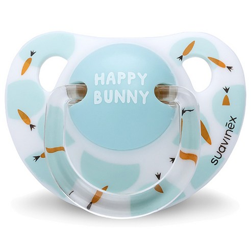 [Suavinex] Happy Bunny Silicone Pacifier 0~6 Months #Happy Bunny 1p (Weight : 30g)
