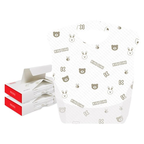 [Kinibini] Disposable Baby Bibs 12p*2 (Weight : 220g)