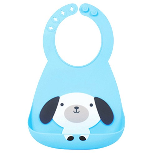 [Lilrinser] Silicon Baby Bib #Blue (Weight : 200g)