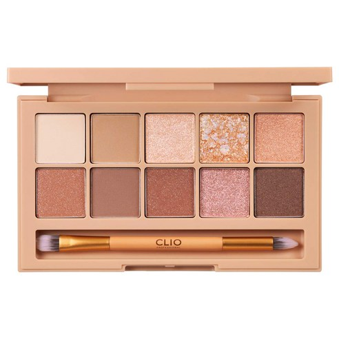 [Clio] Pro Eye Palette #02 Brown Choux 0.6g+10 (Weight : 280g)