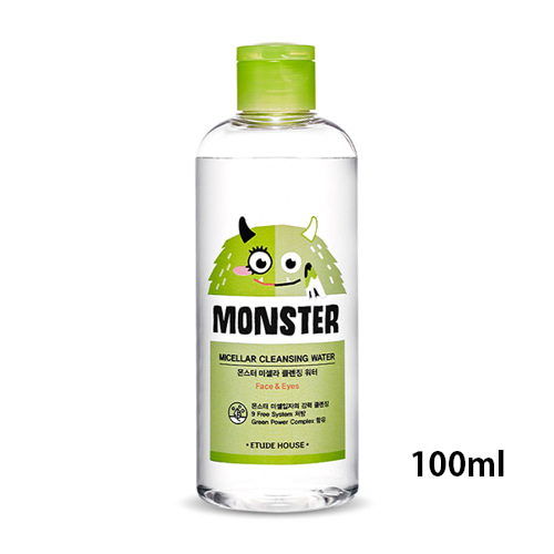 [Etude House] Monster Micellar Cleansing Water (Sample) 100ml (Weight : 143g)