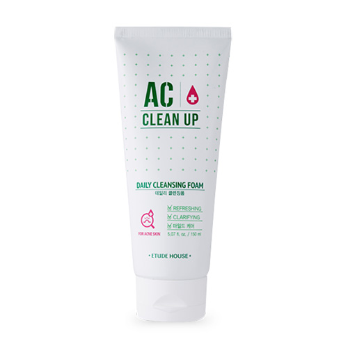 [E][Etude House] AC Clean Up Daily Cleansing Foam 150ml (Weight : 180g)