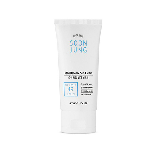 [Etude House] SoonJung Barrier Sun Cream SPF49/PA++ 50ml (Weight : 80g)
