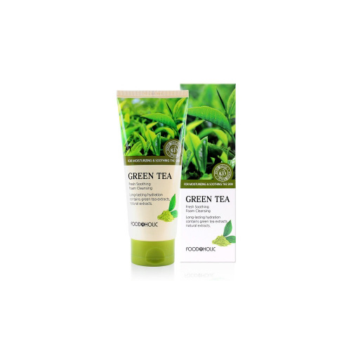 [E][Food A Holic] Fresh Soothing Green Tea Foam Cleansing 180ml (Weight : 210g)
