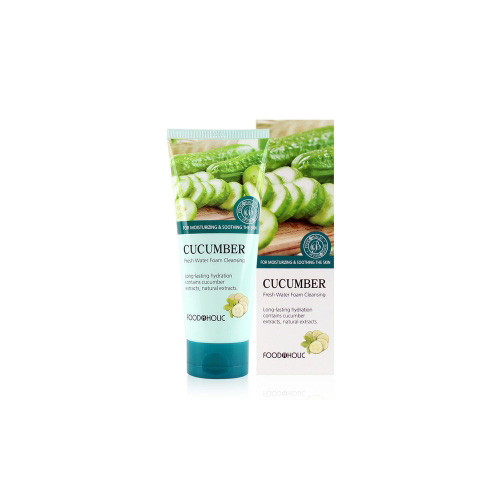 [E][Food A Holic] Fresh Water Cucumber Foam Cleansing 180ml (Weight : 210g)