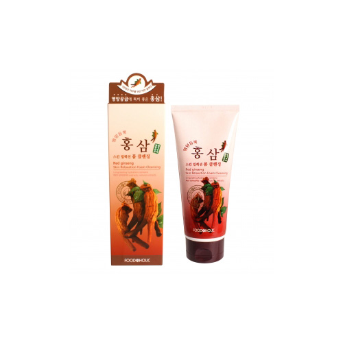 [E][Food A Holic] Skin Relaxation Red Ginseng Foam Cleansing 180ml (Weight : 210g)