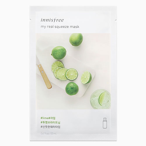 [Innisfree] My Real Squeeze Mask #Lime 20ml