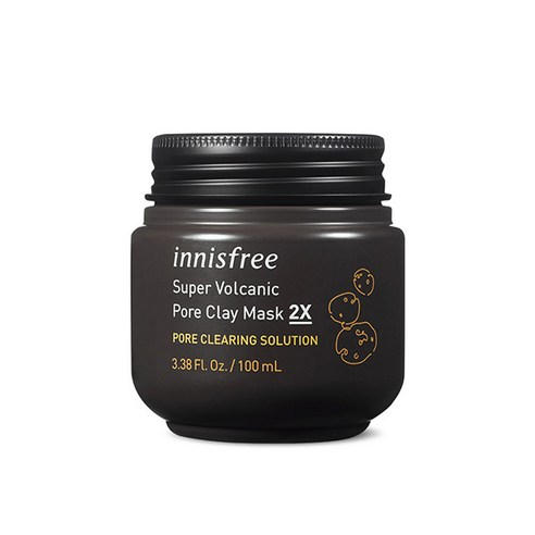 [Innisfree] Super Volcanic Pore Clay Mask 2X 100ml (Weight : 160g)