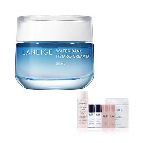 [Laneige] Water Bank Hydro Cream EX 50ml + Amore Pacific Small Kit (Weight : 288g + 125g)