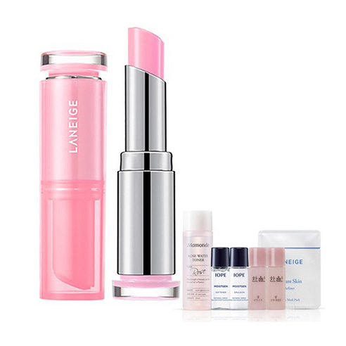 [Laneige] Stained Glow Lip Balm #01 Berry Pink 3g + Amore Pacific Small Kit (Weight : 40g + 125g)