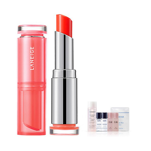 [Laneige] Stained Glow Lip Balm #02 Rich Red 3g + Amore Pacific Small Kit (Weight : 40g + 125g)
