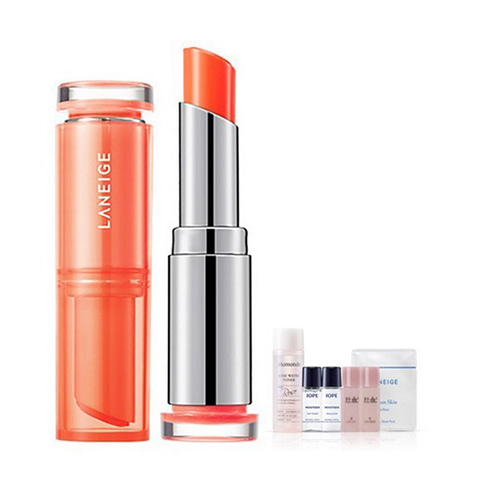 [Laneige] Stained Glow Lip Balm #03 Mandarin Coral 3g + Amore Pacific Small Kit (Weight : 40g + 125g)
