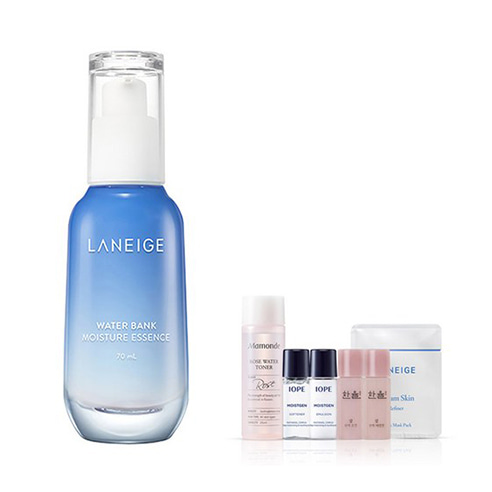 [Laneige] Water Bank Moisture Essence 70ml + Amore Pacific Small Kit (Weight : 120g + 125g)