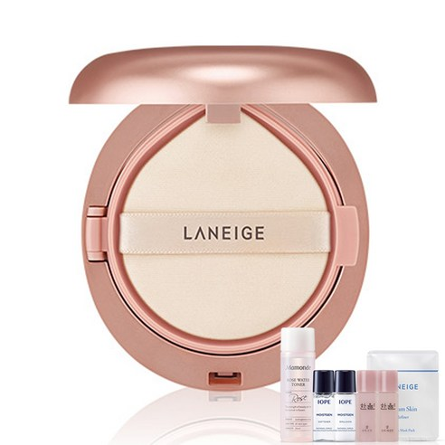 [Laniege] Layering Cover Cushion #21 Beige 16.5g + Amore Pacific Small Kit (Weight : 60g + 125g)