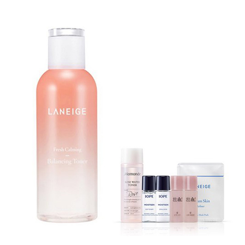 [Laneige] Fresh Calming Balancing Toner 250ml + Amore Pacific Small Kit (Weight : 450g + 125g)