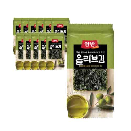 Dongwon Seasoned Laver with Olive Oil 5g X 12EA (Weight : 200g)