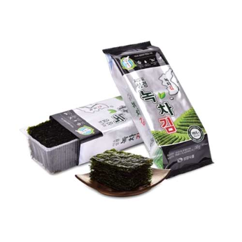 Sunggyung Greentea Seasoned Laver 50g X 4EA (Weight : 300g)
