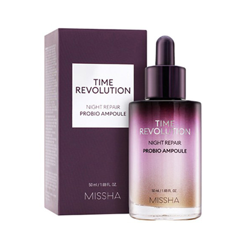[Missha] Time Revolution Night Repair Probio Ampoule 50ml (Weight : 200g)