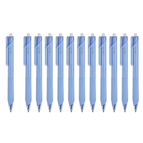 [Monami] FX 153 Ballpoint Pen 0.5mm #Blue 12ea (Weight : 150g)