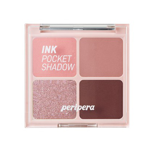 [Peripera] Ink Pocket Shadow Palette #04 Dipping Rose Moment 1.6g*4ea (Weight : 45g)