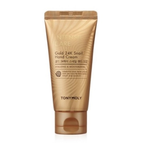 [Tonymoly] Intense Care Gold 24K Snail Hand Cream 60ml (Weight : 110g)
