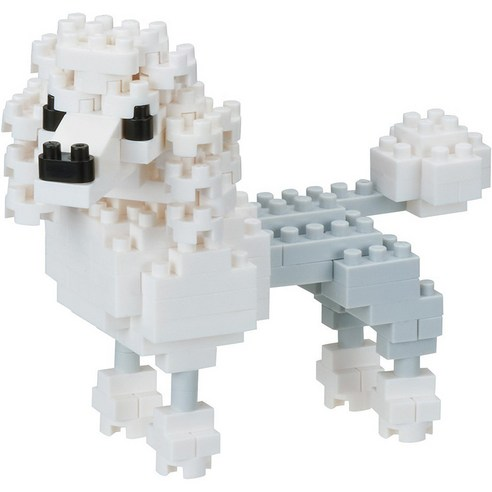 [nano block] Poodle 130pcs (Weight : 220g)